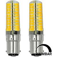 2pz MENGS® dimmerabile Lampada LED 7W BA15D LED 80x 5730 SMD LEDs Lampadina LED (bianco freddo 6500K, 360 angolo, 580lm, AC 220-240V, 18 x 65mm) Lampadine a risparmio energetico