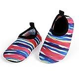 JIASUQI Été Confort Eau Peau Chaussures Chaussettes pour Bébé pour Plage Piscine Aérobic, Multi Couleur 0-6 Mois
