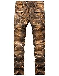 AIYINO Herren Jeanshose Biker Destroyed Look Jeans Hose Denim 6 Style ddfe756dda