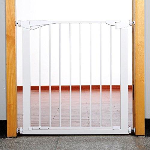 barrière de sécurité Super Large Réglable Porte En Métal Porte Pour Animaux De Compagnie Pour Chien Chat Blanc Clôture Pour La Maison Porte Escaliers S'adapte Espaces Entre 69-118 Cm De Large ( taille : 76-83cm )