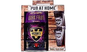 Victor's Drinks Dark Fruit Cider Pub At Home - Make Your Own Cider Gift Set