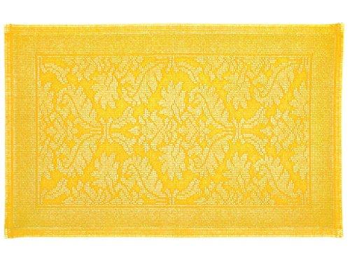 Soleil d'ocre Tapis de Bain en Coton 50x80 cm Firenze Safran, par Vent du sud