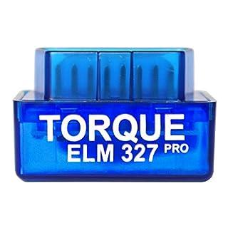 Torque Pro Elm 327 [Android Uniquement [ V1.5 ] OBDII - Lecteur Bluetooth de Code d'erreur, Conforme à la Norme OBD2 -Accessoire de caméscope