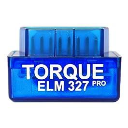 Torque Pro Elm 327, Lettore codice di Errore Bluethooth OBDII OBD 2, Accessorio per Fotocamera e registratore, Solo per…