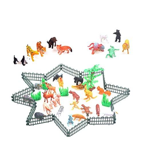 TOYMYTOY Bauernhof Tiere Action Figuren Mini Dschungel Tierfigur Set Kinder Kleinkinder Party Favors 32 Stücke