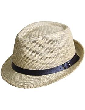 Outflower Sombrero de Paja de Tapa Plana para Niños de Primavera y Verano Gorra de Protección de sol para Viajes...