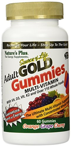 Nature's Plus Source of Life Gold Adult Multi-Vitamin 60 Gummies