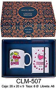 RM- Set libreta y Taza mug con Mensaje per la Reina de la CAS Sets de Material Escolar (1)