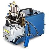 HUKOER Pompa del compressore d'aria ad alta pressione elettrica, 300BAR 30MPA 4500PSI Controllo automatico Sistema ad alta pressione Pompa ad aria compressa Compressore d'aria elettrico Gonfiatore