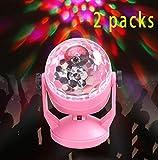 CSDM.AI Bühnenlicht LED Mobile Saugnapf Mini-Sprachsteuerung KTV Rotierende Glühbirne Kleine Magische Kugel Bühne USB-Handy Crystal Magic Ball (2 Packung)