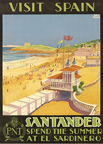 vintage-travel-spain-for-santander-and-spend-the-summer-at-el-sardinero-250gsm-gloss-art-card-a3-rep