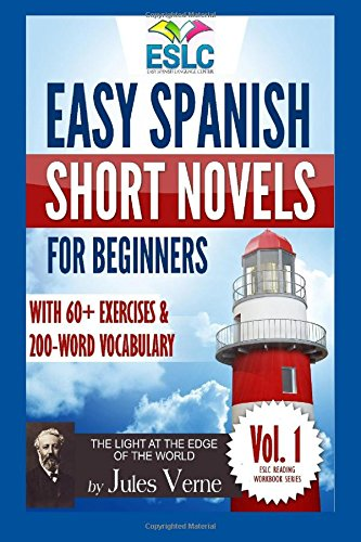 Portada del libro Easy Spanish Short Novels for Beginners With 60+ Exercises & 200-Word Vocabulary: Jules Verne´s