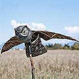 MTL jardín espantapájaros pájaro búho repelente al Pest Disuasión con alas móviles–Scare pájaros, roedores, las plagas de distancia