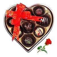 Valentine Chocolates Chocholik 9Pc Mini Love Chocolates With Red Rose - Valentine Love Gifts