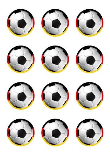 Muffinaufleger Muffins Amerikaner Kindergeburtstag Fussballparty Tortenaufleger Fussball Deutschland FB03