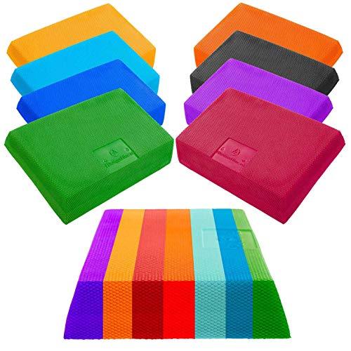 #DoYourFitness® Balance-Board - ca. 31 x 18,5 x 6cm | Gewicht 185g - gelenkschondendes Ganzkörpertraining Schaumstoff : Balance-Pad Koordinationsmatte Balance-Kissen Balancetrainer »Trapezio« orange