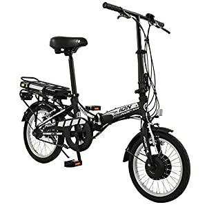 "Ion 16"" wheel Mens or Womens Unisex Alloy Folding Electric Bike"