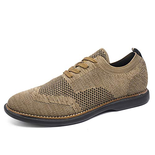 Style Men Casual Shoes Flying Weaven Men Shoes Super Light Men Oxfords Comfortable Men Flats Camel 9