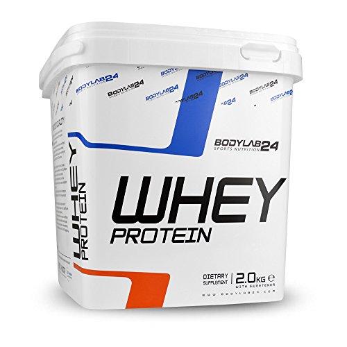 Bodylab24 Whey Protein Eiweißpulver | 2kg | Vanille | hochwertiges Proteinpulver, Low Carb Eiweiß-Shake für Muskelaufbau und Fitness