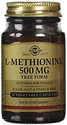 Solgar 500 mg L-Methionine Vegetable Capsules - Pack of 30 by Solgar