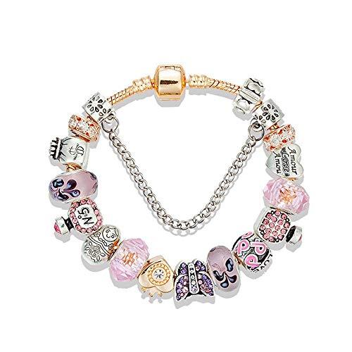ChuangYing Kristall Glas voller Diamanten Armband Schmetterling Parfüm Flasche großes Loch Perlen Armband Europäischen DIY Armband -