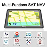SAT NAV GPS Navigation System, 5 inch 8GB 256MB Jimwey Car Truck Lorry Satellite Navigator Device with Post Code POI Search Speed Camera Alerts, Pre-loaded UK&EU Latest 2018 Maps Lifetime Free Update