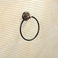 KHSKX Tondo nero asciugamano da bagno asciugamano in bronzo anello