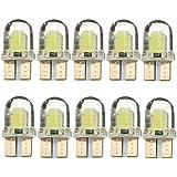 Tinksky 10 Piezas Bombillas LED Luz T10 para Coche Lámpara 5W 12V (Luz Blanca)