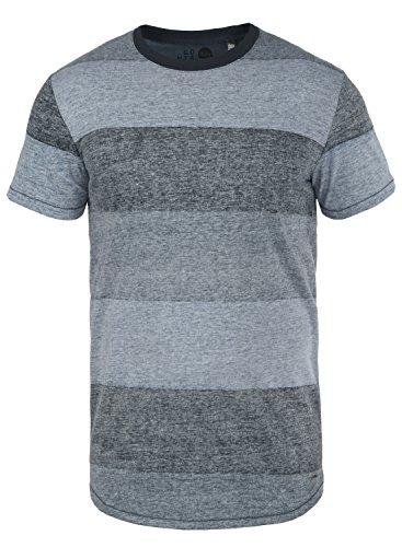 Baumwolle Tipped Pullover Mit V-ausschnitt (!Solid Teine Herren T-Shirt Kurzarm Shirt mit Streifen und Rundhalsausschnitt, Größe:M, Farbe:Insignia Blue (1991))