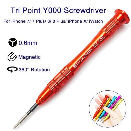 HOUSEGAGA Y000 Tri Wing Tri Point Schraubendreher, 0,6mm Y-Point Y Form Y-Typ Y-Spitze Schraubendreher Magnetdrehung Reparaturwerkzeug für iPhone 7/7 Plus iPhone 8/8 Plus iPhone X, Apple Watch