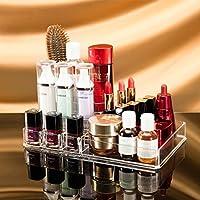 Choice Fun Acrílico Organizador de Maquillaje para lápiz labial cosmético con 1cubierta 2copa 7ranura