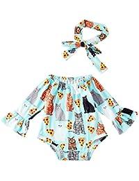 chicolife Infante Neonato Baby Girl Body Toddler Floreale Lungo Manica  Romper Un Pezzo Nappa Tuta Salopette e95edd760fe0