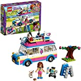 LEGO 41333 Friends Heartlake Olivia's Mission Toy Vehicle, Olivia mini doll and Truck Fun Playset for Girls and Boys