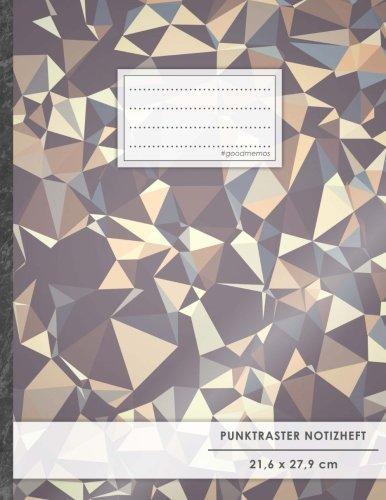 "Punktraster Notizbuch • A4-Format, 100+ Seiten, Soft Cover, Register, ""Dreieckmuster"" •..."