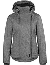 Sublevel Damen Winterjacke mit abnehmbarer Kapuze & Daumenloch | Gut gefütterte Jacke im Sportlichen Look