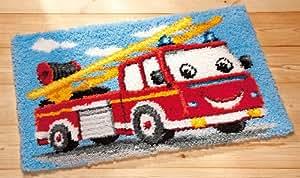 canevas imprimé tapis point noué cars collection vervaco