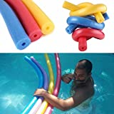 VENMO Solid Swimming Pool Noodle Long Floating Aid Thick Foam Tube Ring Decal Sticker Rope With Holes (Blue)