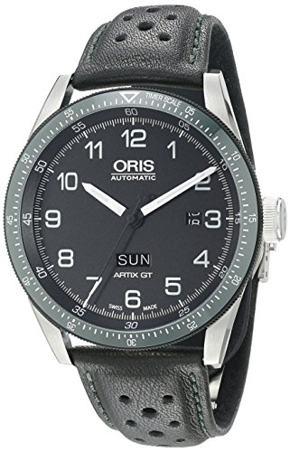 Oris Calobra Day Date Limited Edition II 735.7706.4494.LS 44mm Automatic Stainless Steel Case Black Calfskin Anti-Reflective Sapphire Men's Watch