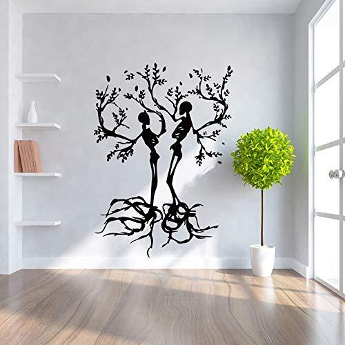 Halloween Hintergrund Flugzeug Aufkleber Baum Form Dekoration Für Wohnzimmer Entfernbares Papier Selbstklebende adesivo 57 * 80 cm