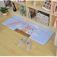 Elegant GRENSS Eingang Türmatten Lustig Cartoon Ausdruck Totoro Teppiche  Kinderzimmer Nachttisch Foot Pads Handwerk Küche Dekoration, Schwarz, ...