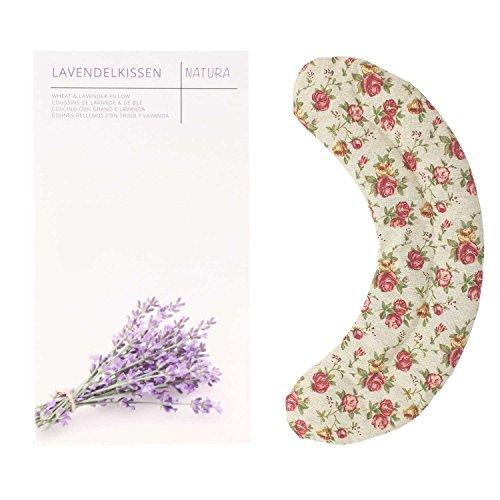 UMOI Lavendel & Weizen Schulter und Nacken Kissen mit dezenzt-harmonisch duftendem Lavendel für Entspannung und Wohlbefinden zum Aufwärmen im Backofen oder Mikrowelle mit 900 Gramm Weizen & Lavendel 50 cm x 13 cm (Retro)
