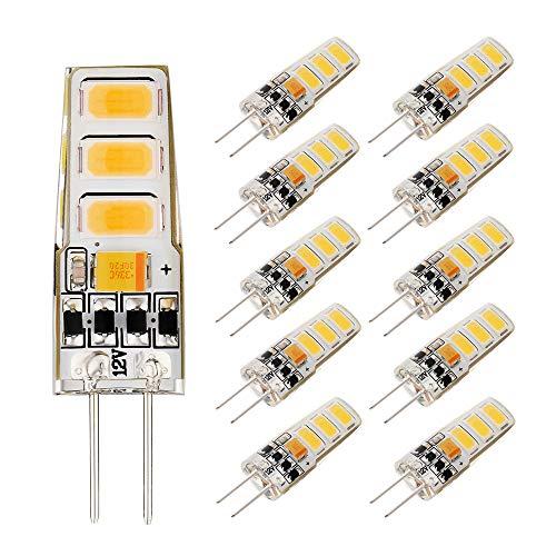 EKSAVE 2W G4 LED-Lampen warmweiß 150LM, Ersatz von 15W Halogenlampen, G4 Mini-Kapselbirnen (10 Stück, 3000K) -