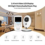 Luxnwatts Babyphone 2.4 GHz Baby monitor Nachtsicht 2.4 Zoll LCD Monitor 2-Wege Audio 8 Schlaflieder Temperatursensor