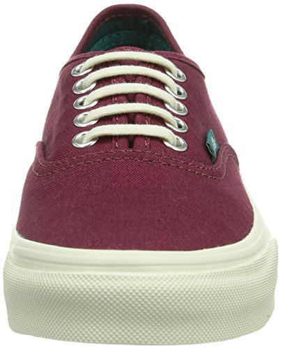 Vans U Authentic Slim (Pop) Cordovan/, Baskets Basses mixte adulte Rouge - Rot ((Pop) cordovan/ / DXT)
