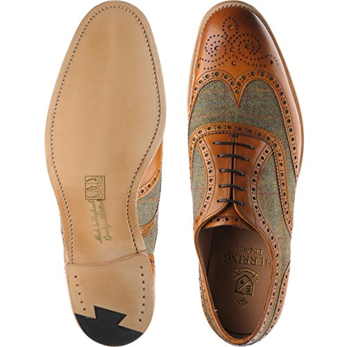 Herring Herring Bodmin II, Scarpe stringate uomo (Chestnut Calf and Tweed)