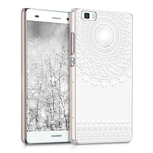 kwmobile Elegante e leggera custodia Crystal Case Design Art Deco per > Huawei P8 Lite (versione 2015) < in bianco trasparente