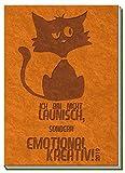 Tachenkalender A7 Soft Touch Cat 2019 Terminplaner Buchkalender orange