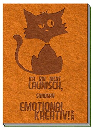 Taschenkalender A7 Soft Touch Cat 2019 orange: Terminplaner Buchkalender por Trötsch Verlag GmbH & Co. KG