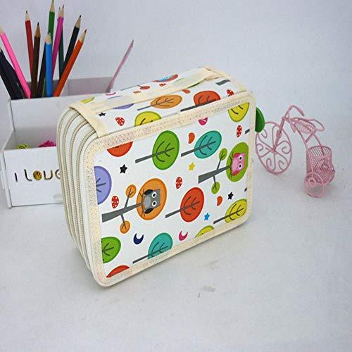 TJDVMRLZX Nette Schule Federmäppchen Kawaii Cartoon Federbeutel 32/52/72 Löcher Strafe Pencilcase Large Box Pouch für Mädchen Boy Stationery @ style16