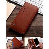 ClickCase™ for Oneplus 5 Flipper Series Leather Wallet Flip Case Kick Stand with Magnetic Closure Flip Cover for OnePlus 5 (Brown)